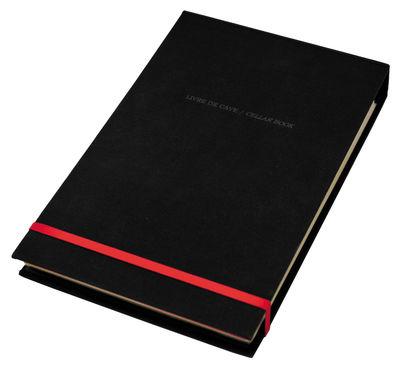 Carnet Livre de Cave / Méthode de dégustation - L´Atelier du Vin rouge,noir en papier