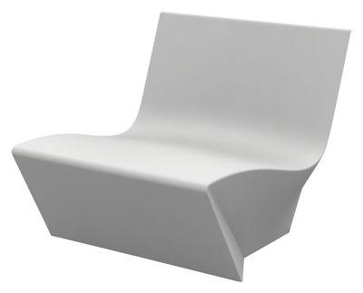 Poltrona bassa Kami Ichi di Slide - Bianco - Materiale plastico