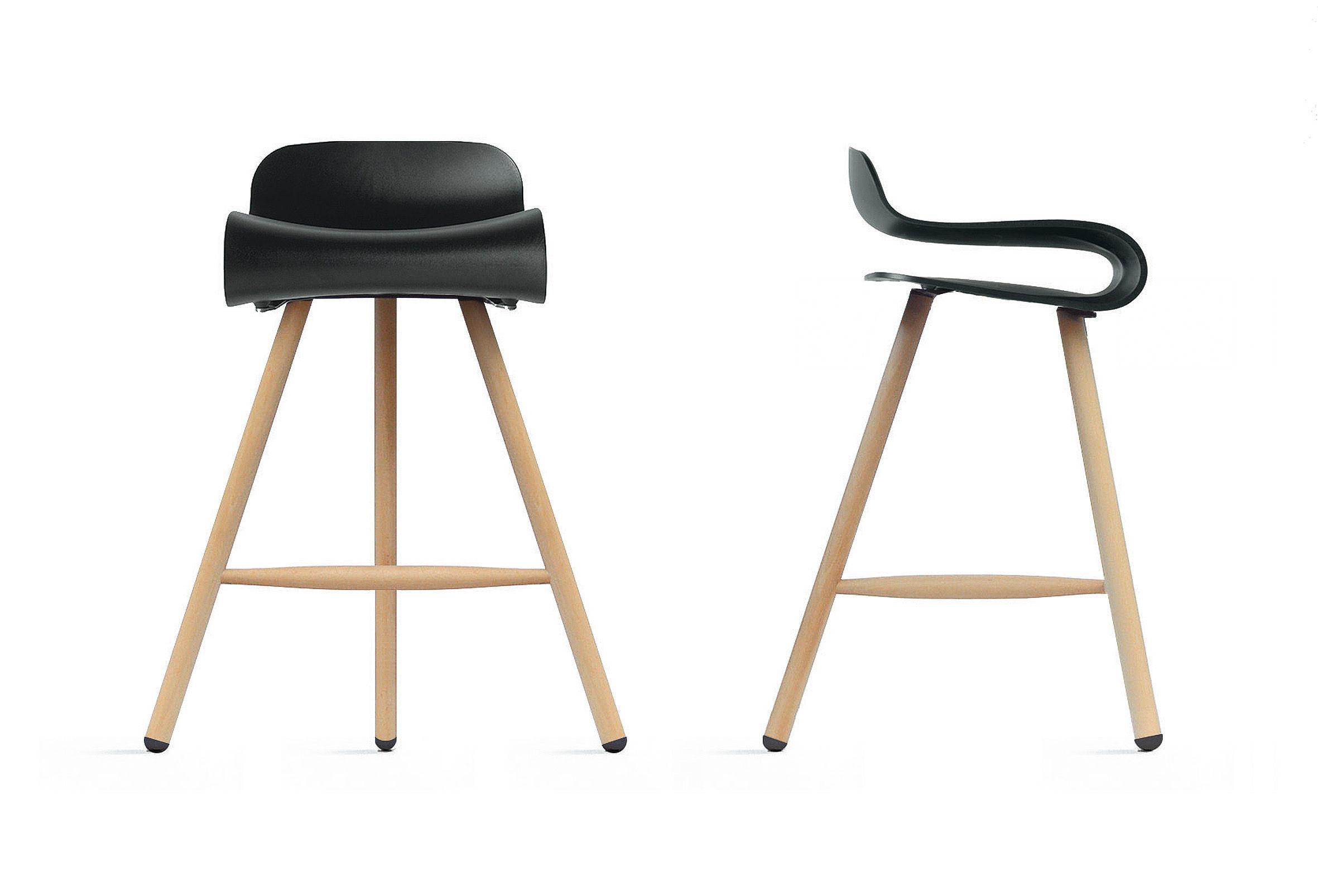bcn wood h 66 cm stuhlbeine aus holz kristalia barhocker. Black Bedroom Furniture Sets. Home Design Ideas