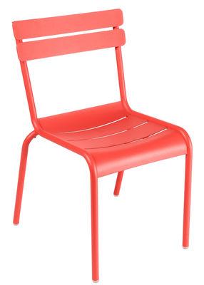 Life Style - Chaise empilable Luxembourg / Aluminium - Fermob - Capucine - Aluminium laqué
