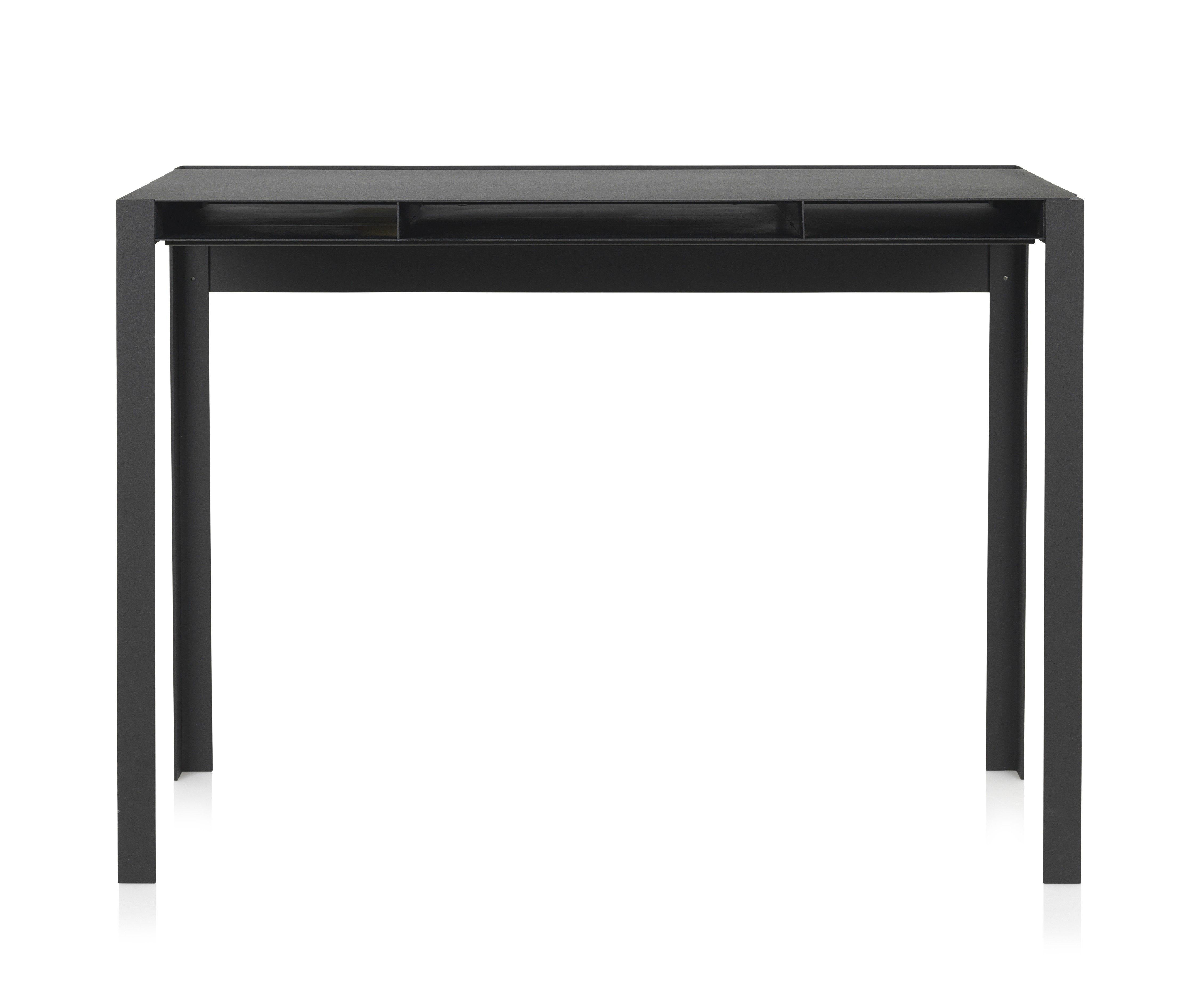 bureau index bureau m tal l 100 cm noir nomess. Black Bedroom Furniture Sets. Home Design Ideas