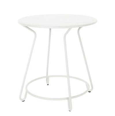 Table Huggy / Ø 75 cm - Aluminium - Maiori blanc en métal
