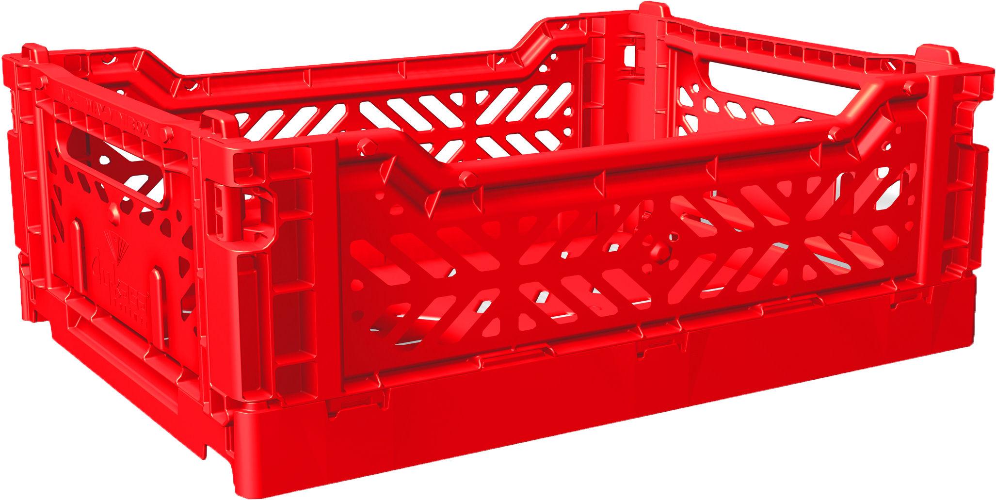 Casier de rangement midi box pliable l 40 cm rouge - Casier de rangement bureau ...