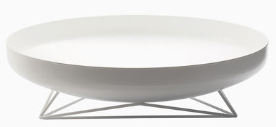 Centre de table Steel Vessels Large / Vide-poche - Ø 52 cm - Th Manufacture blanc satiné en métal