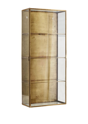 Furniture - Shelves & bookcases - Cabinet Large Wall storage - / Showcase - L 35 x H 80 cm by House Doctor - Large / Brass - Brass, Glass
