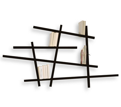 Furniture - Shelves & bookcases - Mikado Bookcase - Small by Compagnie - Black - Lacquered beechwood
