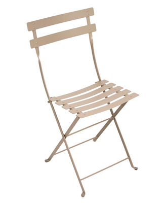 Chaise pliante Bistro / Métal - Fermob muscade en métal
