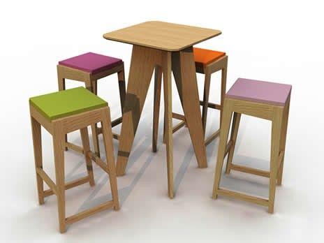 tabouret de bar room 26 h 82 cm bois assise mousse ch ne coussin jaune quinze milan. Black Bedroom Furniture Sets. Home Design Ideas