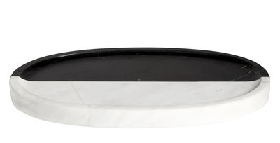 Accessoires - Accessoires salle de bains - Plateau Canaan / 27 x 15 cm - Marbre - Jonathan Adler - Noir & blanc - Marbre