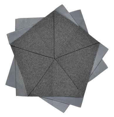 Arts de la table - Nappes, serviettes et sets - Décoration Iittala X Issey Miyake / Fleur de table - Ø 27 cm - Iittala - Gris foncé - Polyester