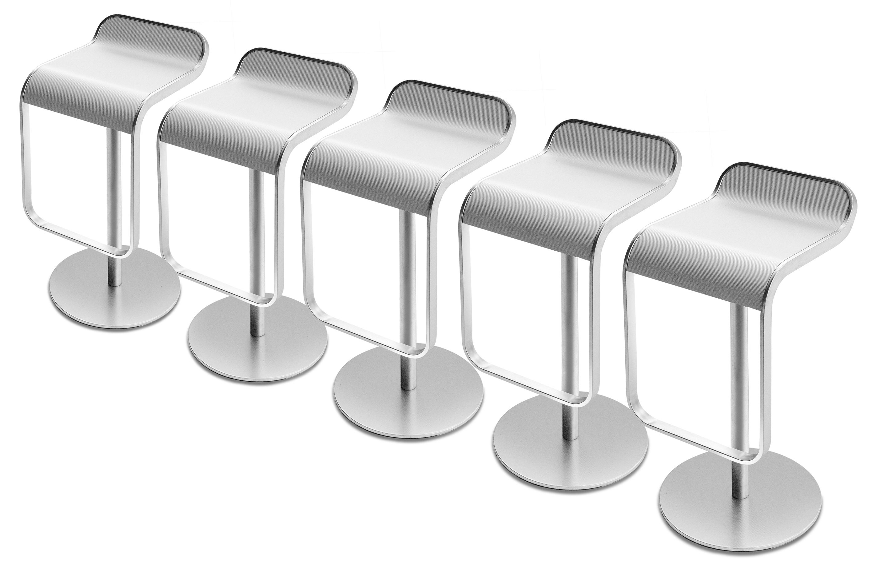 Lem adjustable bar stool pivoting wood seat blanched oak for Lem lapalma
