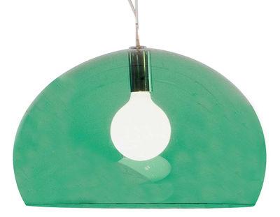Foto Sospensione FL/Y di Kartell - Verde scuro - Materiale plastico