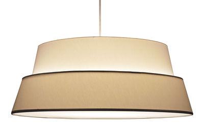 Abat-jour Photo pour lampadaire Nuala - Objekto blanc,ecru en tissu