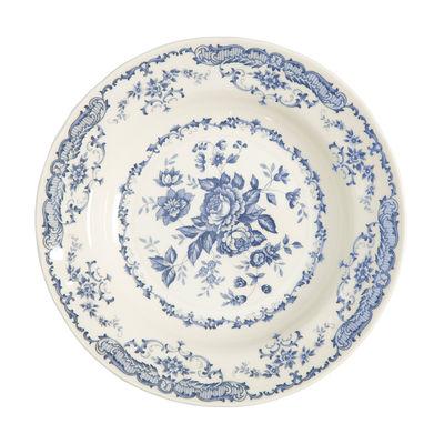 Arts de la table - Assiettes - Assiette creuse Rose / Ø 23,3 cm - Bitossi Home - Bleu - Céramique Ironstone