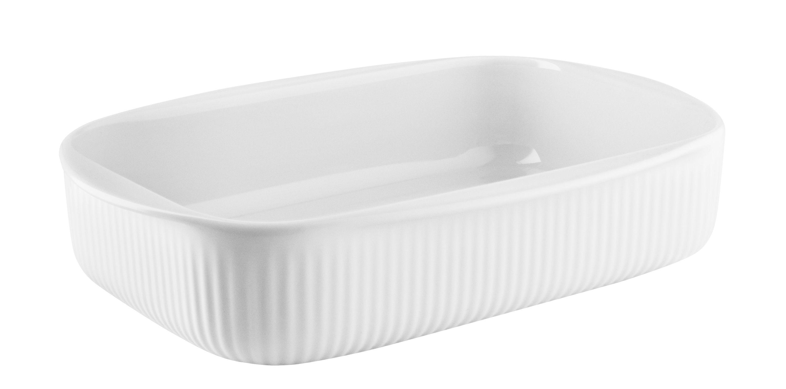 Tableware - Serving Plates - Legio Nova Baking dish - / Small - 24 x 16.5 cm by Eva Trio - Small / White - China