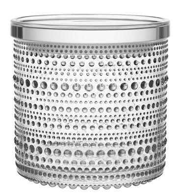 Kitchenware - Kitchen Storage Jars - Kastehelmi Box - Ø 11,6 cm by Iittala - Transparent - Glass, Plastic