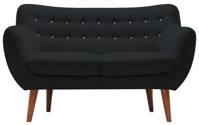 Canapé droit Coogee / 2 places - L 132 cm - Sentou Edition gris clair,anthracite en tissu