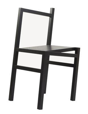 Mobilier - Chaises, fauteuils de salle à manger - Chaise 9.5° / Illusion d'optique - Frama  - Noir - Frêne teinté