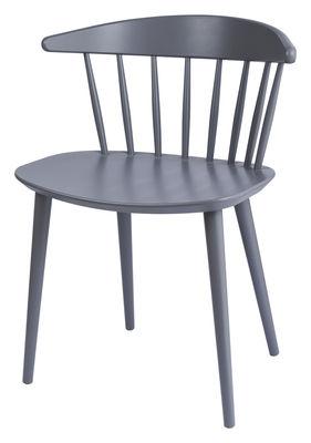 Mobilier - Chaises, fauteuils de salle à manger - Chaise J104 / Bois - Hay - Gris - Hêtre massif teinté
