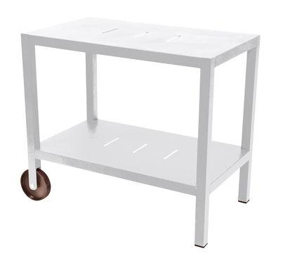 Mobilier - Compléments d'ameublement - Desserte Quiberon / Support à plancha - Fermob - Blanc coton - Acier, Aluminium