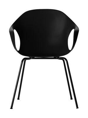 Chaise Elephant Coque plastique pieds métal Kristalia noir en matière plastique