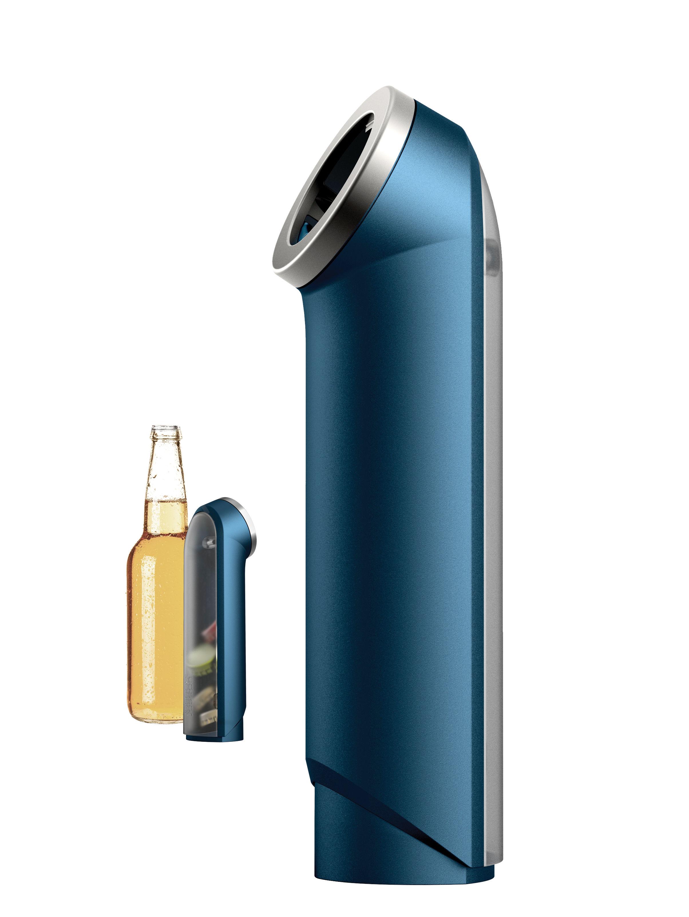 Tischkultur - Bar, Wein und Apéritif - BarWise Flaschenöffner / Kronkorkensammler - mit Auffangbehälter - Joseph Joseph - Blau - Metall