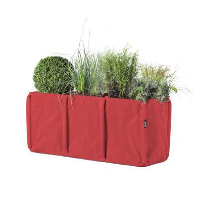 Outdoor - Pots & Plants - BacLong 3 Flowerpot - / Batyline® Outdoor - 110 L by Bacsac - Cherry - Batyline® fabric