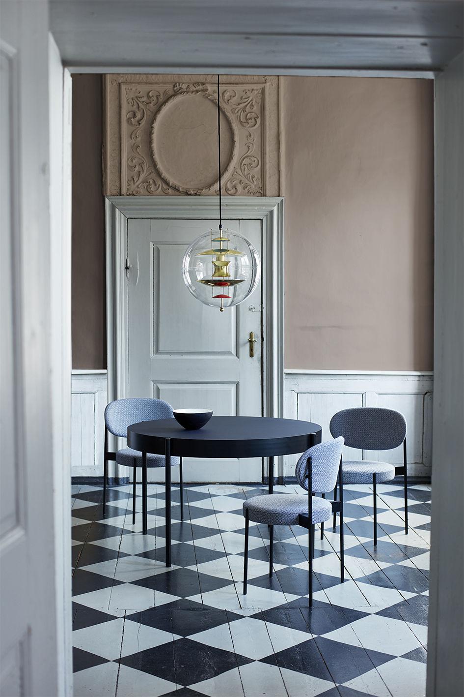 series 430 gepolsterter stuhl velours velours ockergelb by verpan made in design. Black Bedroom Furniture Sets. Home Design Ideas