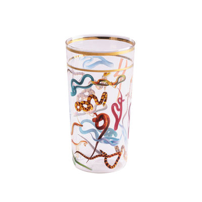 Tableware - Wine Glasses & Glassware - Toiletpaper - Snakes Glass by Seletti - Snakes - Borosilicated glass