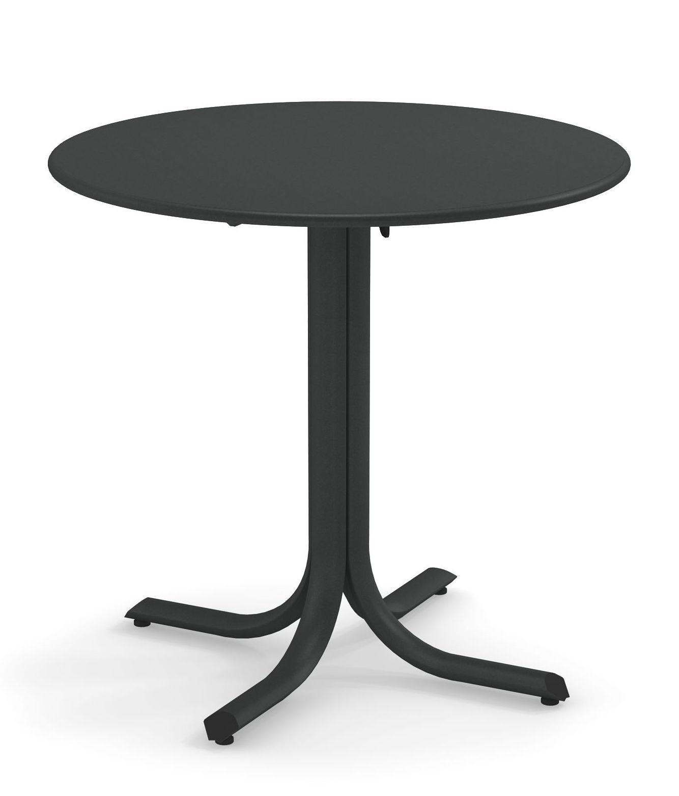 Outdoor - Tische - System Klapptisch / Ø 80 cm - Emu - Eisen Antik - Acier peint galvanisé