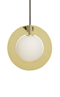 Lighting - Pendant Lighting - Plane Pendant by Tom Dixon - Round / Polished brass - Brass plated steel, Glass