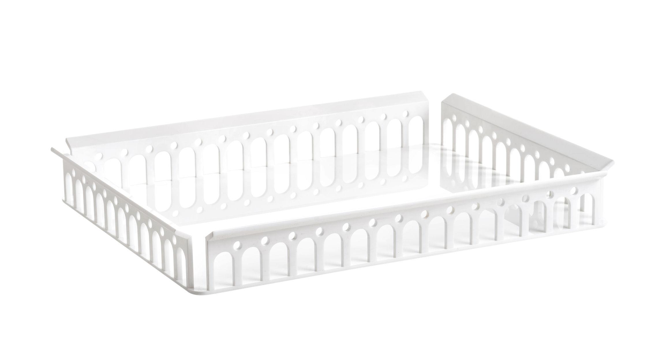 Tavola - Vassoi  - Piano/vassoio Piazza - / 48 x 37 cm di Kartell - Bianco opaco - Technopolymère thermoplastique