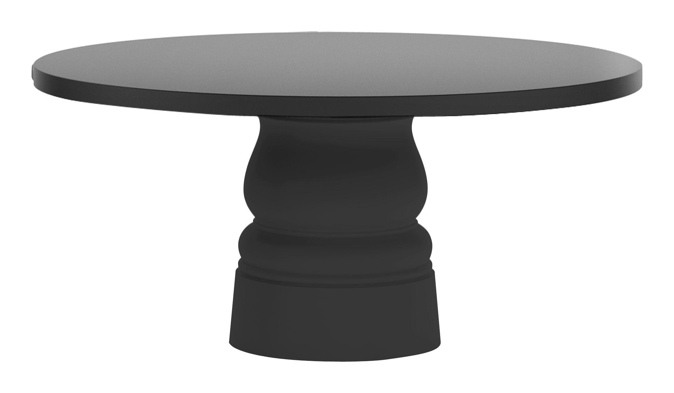 Jardin - Tables de jardin - Pied de table Container New Antique / H 71 cm - Pour plateau Ø 160 cm - Moooi - Pied noir - Ø 56 x H 71 cm - Acier inoxydable, Polyéthylène