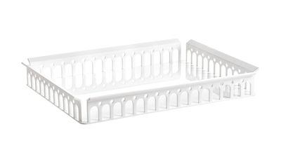 Plateau Piazza / 48 x 37 cm - Kartell blanc en matière plastique