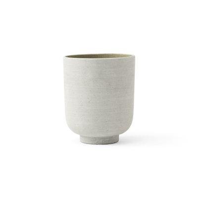 Jardin - Pots et plantes - Pot de fleurs Collect SC70 / Ø 15 x H 18 cm - Polystone - &tradition - Vert Sauge - Polystone