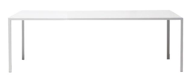 Möbel - Außergewöhnliche Möbel - Tense rechteckiger Tisch 200 x 100 cm - MDF Italia - 200 x 100 cm - weiß - kunstharzbeschichtetes Aluminium