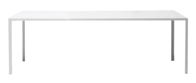 Furniture - Exceptional furniture - Tense Rectangular table - 100 x 200 cm by MDF Italia - 100 x 200 cm - White - Aluminium covered with resin