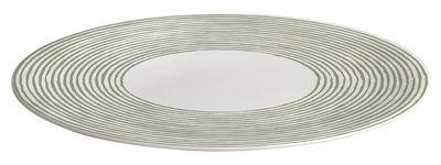 Tischkultur - Platten - Acquerello Servierplatte Ø 32 cm - A di Alessi - Weiß & grün - chinesisches Weich-Porzellan