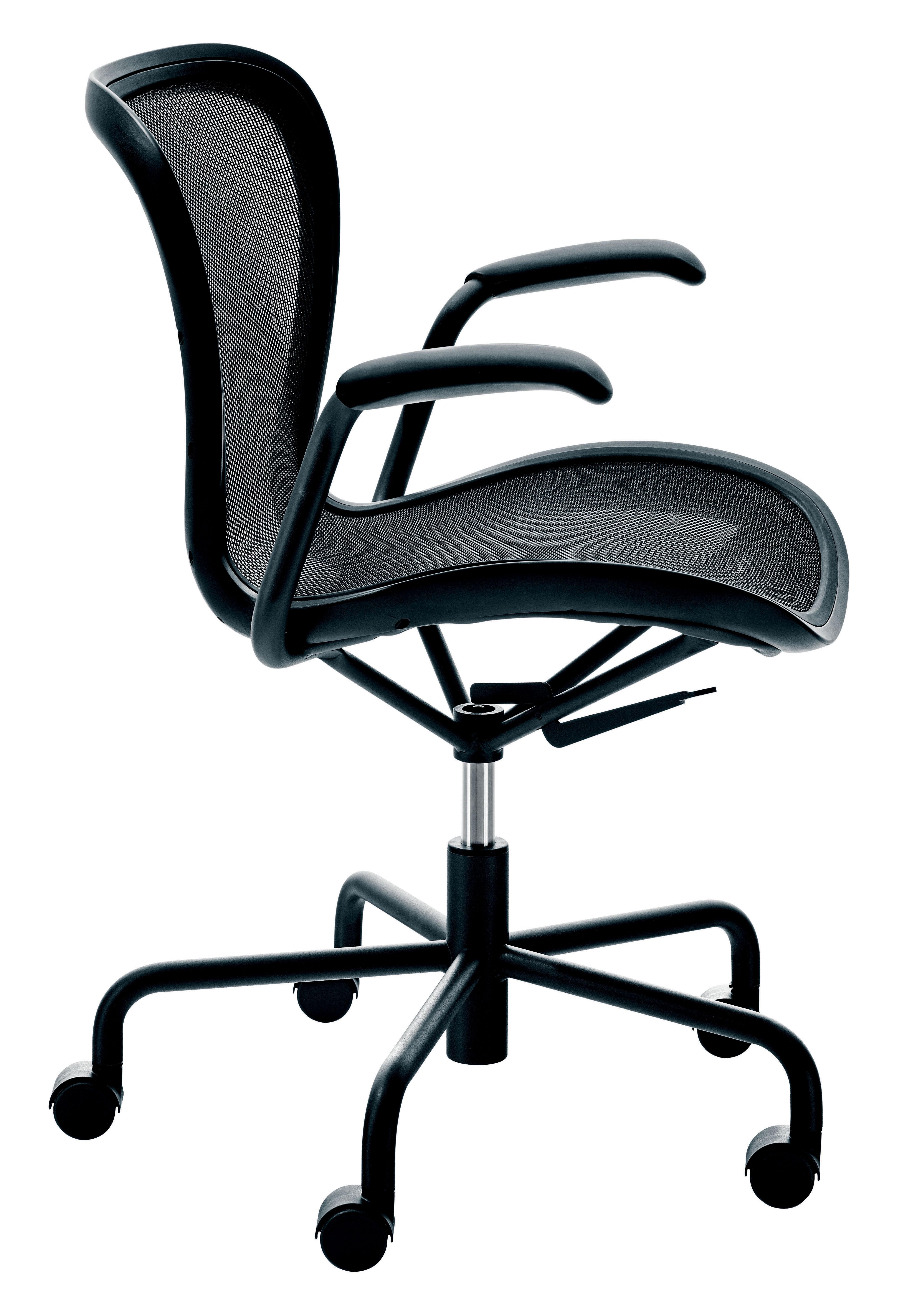 Möbel - Möbel für Teens - Annett Sessel mit Rollen - Magis - Schwarz / Gestell: schwarz - gefirnister Stahl, Netzgewebe, Polypropylen