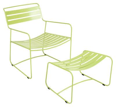 Set fauteuil & repose-pieds Surprising Lounger - Fermob verveine en métal