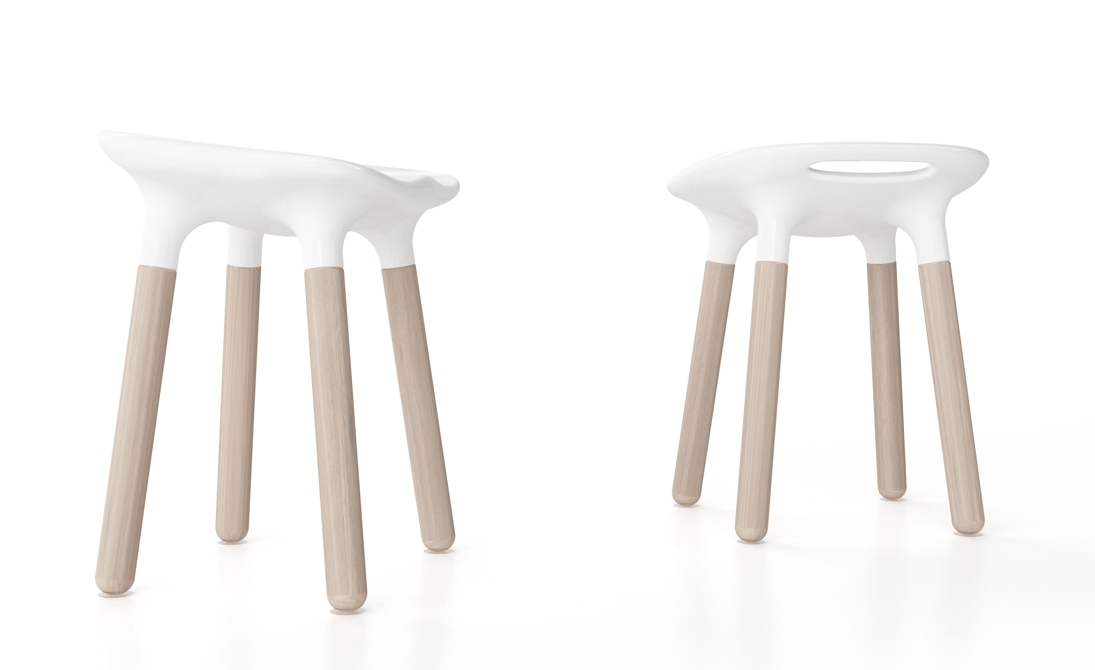 Marguerite sgabello h bianco by stamp edition made in design