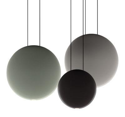 Illuminazione - Lampadari - Sospensione Cosmos - LED / Set da 3 sospensioni - L 55 cm di Vibia - Verde Ø27 / Grigio Ø27 / Cioccolato Ø19 - policarbonato