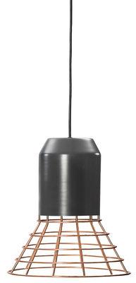 Luminaire - Suspensions - Suspension Bell Light / Ø 29 x H 34 cm - ClassiCon - Cuivre & Gris foncé - Cuivre, Métal laqué