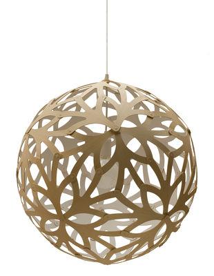 Suspension Floral / Ø 40 cm - Bicolore blanc & bois - David Trubridge blanc/bois naturel en bois