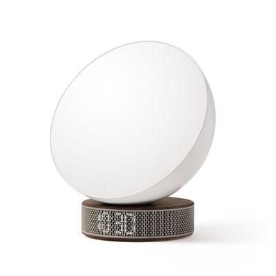 Accessori - Radio e Sveglie - Sveglia simulatrice dell'alba Miami Sunrise - / Luminoterapia par LED di Lexon - Base legno scuro/ Oro - ABS, Metallo