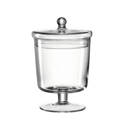 Kitchenware - Kitchen Storage Jars - Poesia Sweet box - / Ø 12 x H 19 cm - Glass by Leonardo - Ø 12 cm / Transparent - Glass