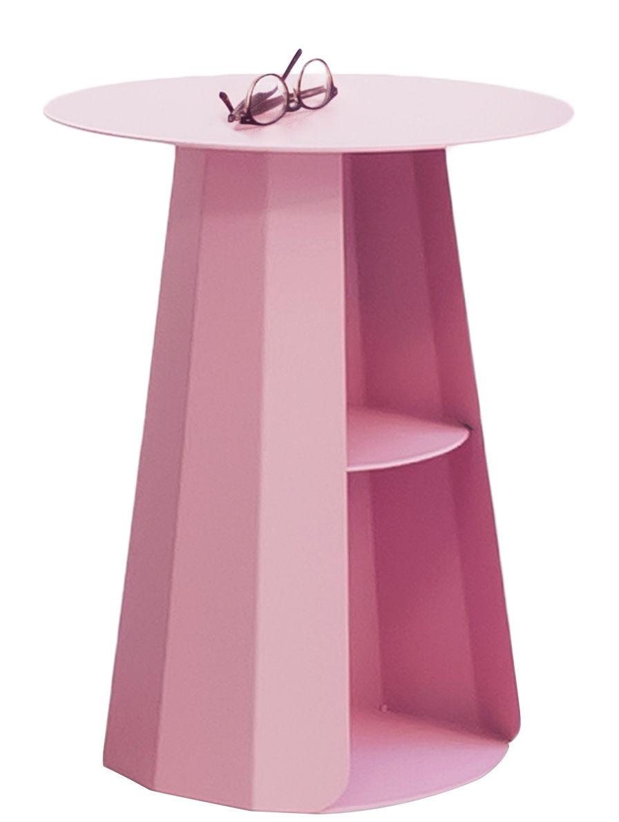 Mobilier - Tables basses - Table d'appoint Ankara / Ø 39 x H 50 cm - Matière Grise - Rose clair - Acier