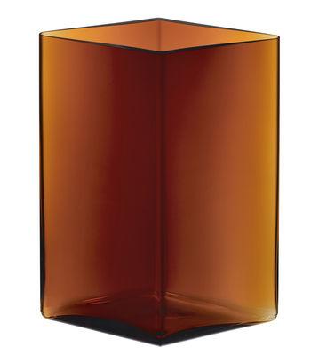 Dekoration - Vasen - Ruutu Vase von R. & E. Bouroullec / L 20,5 x H 27 cm - Iittala - Kupferfarben - mundgeblasenes Glas