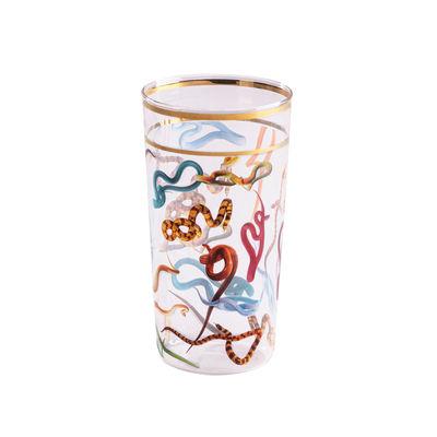 Arts de la table - Verres  - Verre Toiletpaper - Snakes / H 13 cm - Seletti - Serpents - Verre borosilicaté