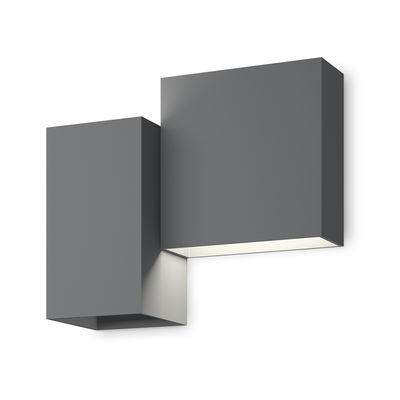 Structural LED Wandleuchte / 26 x 22 cm - Vibia - Mattgrau